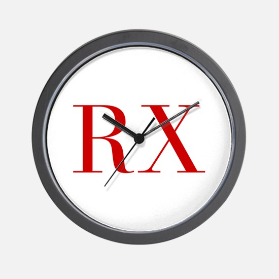 RX-bod red2 Wall Clock