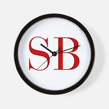SB-bod red2 Wall Clock