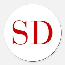 SD-bod red2 Round Car Magnet