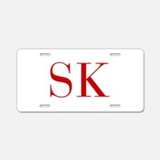 SK-bod red2 Aluminum License Plate