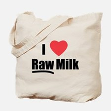 I Heart Raw Milk Tote Bag