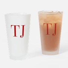 TJ-bod red2 Drinking Glass