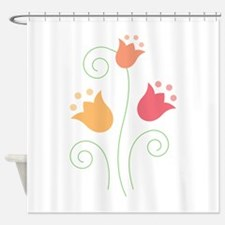 Tulip Border Shower Curtain