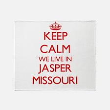 Keep calm we live in Jasper Missouri Throw Blanket