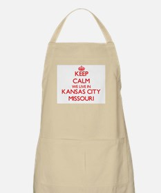 Keep calm we live in Kansas City Missouri Apron