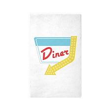 Diner Halt Area Rug