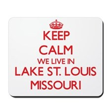 Keep calm we live in Lake St. Louis Miss Mousepad