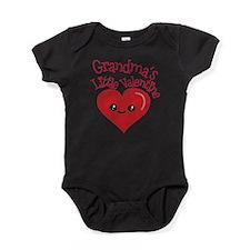 Grandma's Little Valentine Baby Bodysuit