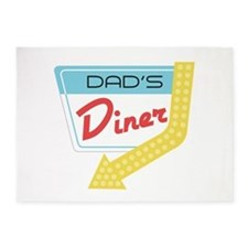 Dad's Diner 5'x7'Area Rug