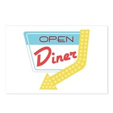 Open Diner Postcards (Package of 8)