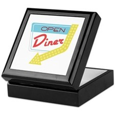 Open Diner Keepsake Box