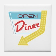 Open Diner Tile Coaster