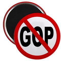 No GOP: Red Slash Through GOP (Magnet)