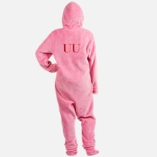 UU-bod red2 Footed Pajamas