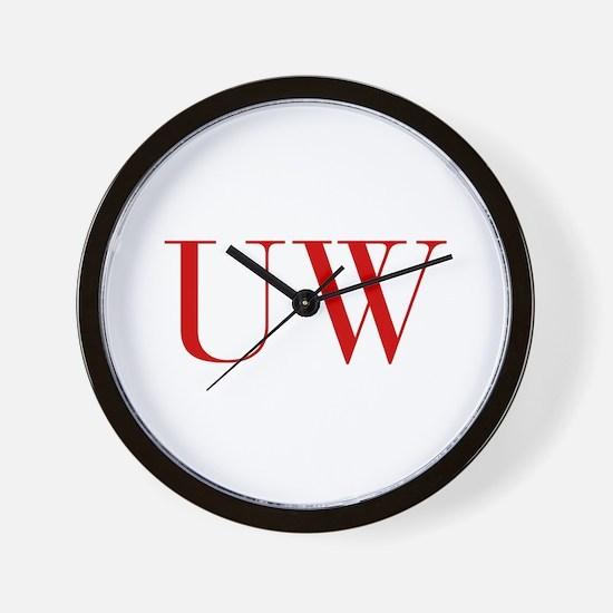 UW-bod red2 Wall Clock