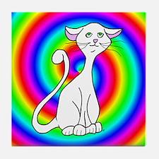 Groovy Cat Tile Coaster