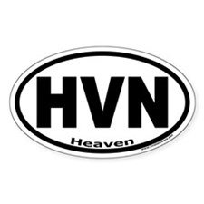 "Heaven ""HVN"" Oval Decal"