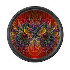 Glowing Bokeh Large Wall Clock