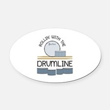 Rollin' With Drumline Oval Car Magnet
