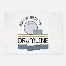 Rollin' With Drumline 5'x7'Area Rug