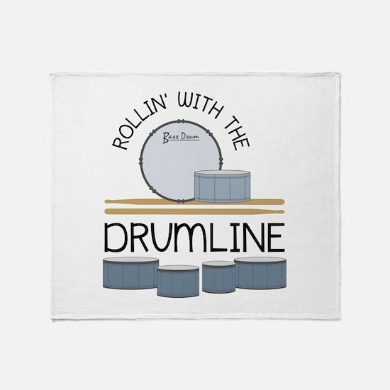 Rollin' With Drumline Throw Blanket