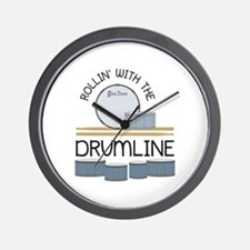 Rollin' With Drumline Wall Clock