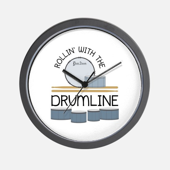 Rollin' With Drumline Wall Clock