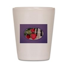 Valentine in Purple Shot Glass