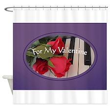 Valentine in Purple Shower Curtain