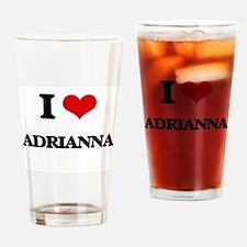 I Love Adrianna Drinking Glass