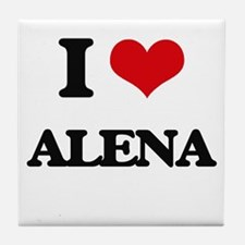 I Love Alena Tile Coaster