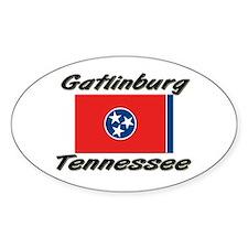 Gatlinburg Tennessee Oval Decal