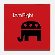i Am Right Tile Coaster