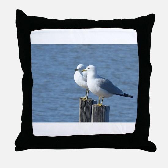 Cute Ornithology Throw Pillow