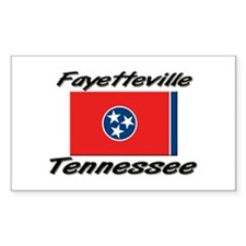 Fayetteville Tennessee Rectangle Decal