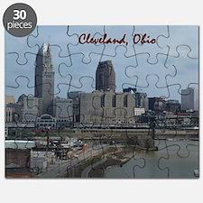 Cute Cleveland ohio skyline Puzzle