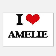 I Love Amelie Postcards (Package of 8)