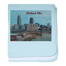 Unique Cleveland baby blanket
