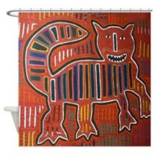 Abstract art cat Shower Curtain