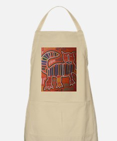 Abstract art cat Apron