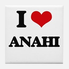 I Love Anahi Tile Coaster