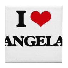 I Love Angela Tile Coaster