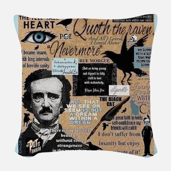 Poe Woven Throw Pillow