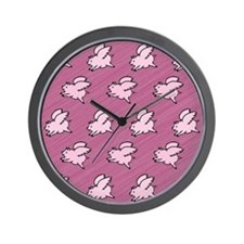 Cute Flying Pigs with Wings Wall Clock