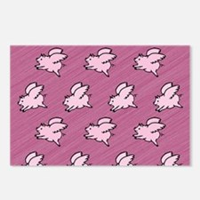 Cute Flying Pigs with Wings Postcards (Package of