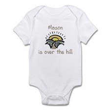 Mason is over the hill Infant Bodysuit