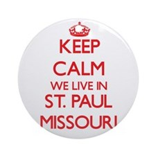 Keep calm we live in St. Paul Mis Ornament (Round)