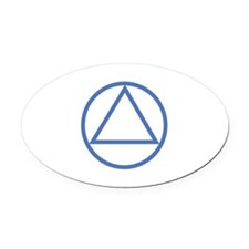 ALCOHOLICS ANONYMOUS Oval Car Magnet