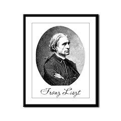 Franz Liszt Framed Panel Print