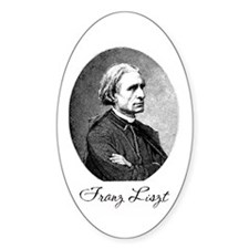 Franz Liszt Oval Decal